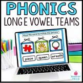 Digital Phonics Activities Long E Vowel Teams Word Work Go