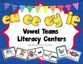 Long e Vowel Teams- ee, ea, ey, ie Literacy Centers, SCOOT, & 4 Corners