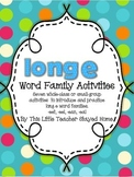 Long e Word Family Activities