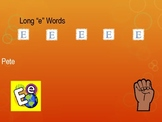 """Long """"e"""" Words Powerpoint for Fluency Practice"""