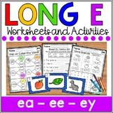 Long e Worksheets (ee, ea, e)