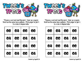 Long e: ee and ea Game and Word Sort
