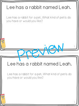 Long e (ee, ea) Book: Think and Respond! 2 versions included!