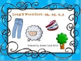 Long e: word sort game ea, ee, e_e vowel diagraphs