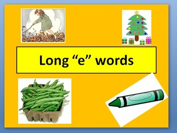 """Long """"e"""" words PowerPoint"""