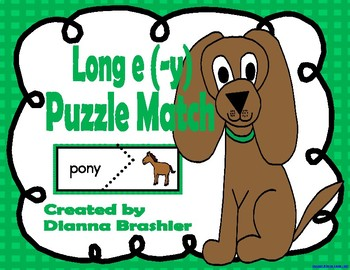 Long e (-y), ey, and y Puzzle Match