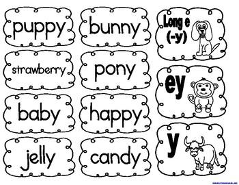 Long e (-y), ey, and y Word Scramble