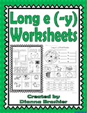 Long e (-y), ey, and y Worksheets