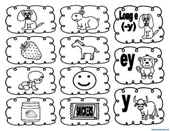 Long e (-y), ey, y picture sort activities