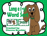 Long e (-y), ey, y word sort activities