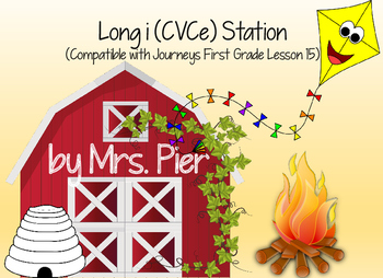 Long i (CVCe) Station (Compatible with Journeys First Grade Lesson 15)