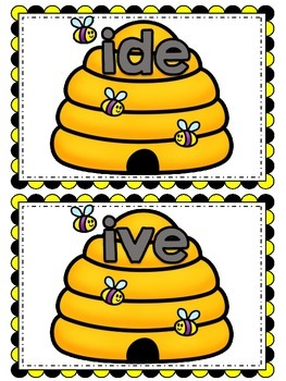 Long i Reading Center (Differentiated Long i Word Family Hives Word Sort)