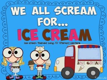 Long /i/ Ice Cream Literacy Centers
