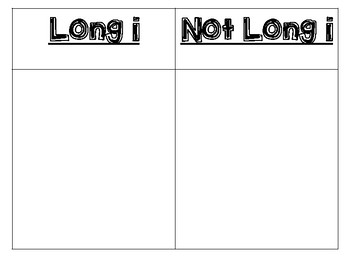 Long i / Not long i Sort
