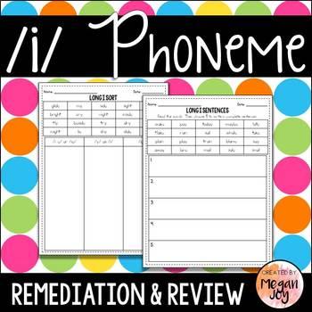 Long i Phoneme - Phonics Practice & Review