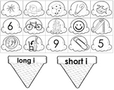 Long i / Short i vowel - picture (word) Sort ICE CREAM