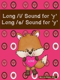 Long /i/ Sound for 'y' and Long /e/ Sound for 'y'
