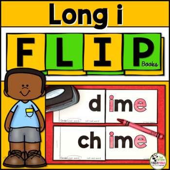 Long i Word Family (i_e, igh, ie, -y) Phonics FLIP Books