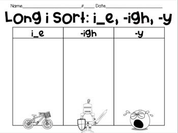 Long i Vowel Sort