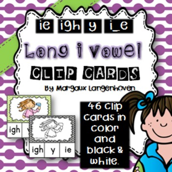 Long i Vowel Sounds Clip Cards