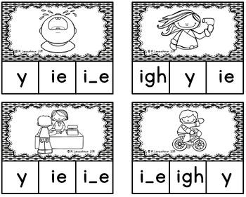 Long i Vowel Sounds Clip Cards