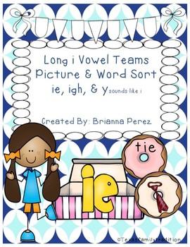 Long i Vowel Teams Picture & Word Sort