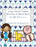 Long i Vowel Teams Picture & Word Sort