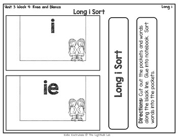 Long i Word Study Packet: (Rosa and Blanca) Reading Street Resource Packet