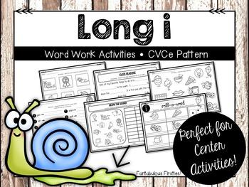 Long i Word Work Activities CVCe