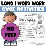 Long I Worksheets and Activities   Long I Silent E Workshe