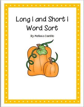 Long i and short i word sort