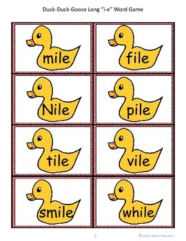 Long i-e Duck-Duck-Goose Word Game