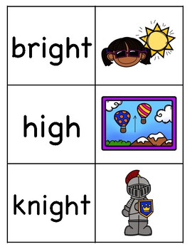 Long i (igh) Picture Word Match