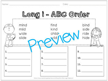 Long i (ild, ind) Lesson Plans and Word Work!