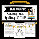 igh Words (long i) Fluency Passage Reading and Spelling Activities Grades 3-5