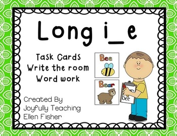 Long i magic/silent e task cards