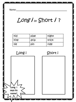 Long i or Short i?