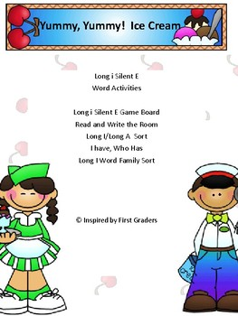 Long i silent e Activities and Word Work