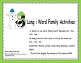Long i, silent e Word Work Activities