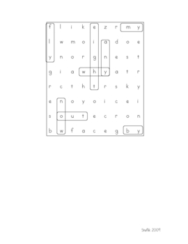 Long-i (spelled y) Word Search
