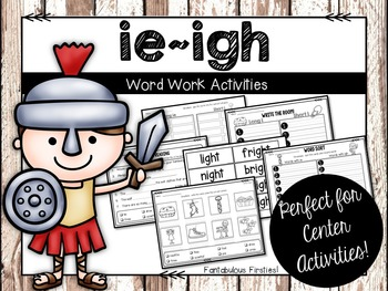 Long ie/igh Word Work Activities