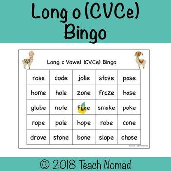 Long o (CVCe) Phonics Bingo - Llama Theme