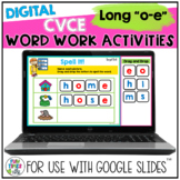 Long o CVCe Digital Word Work Activities for Google™
