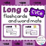 Long o CVCe Flashcards and Word Mats
