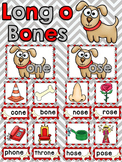 Long o Reading Center (Differentiated Long o Word Family Dog Bones Word Sort)