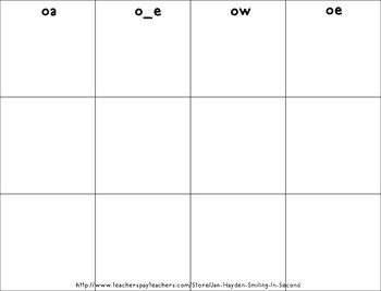 Halloween Long 'o' Digraph Activities, Games, Word Work-Fall Theme