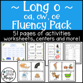 Long o Fluency Pack (oa, ow and oe)