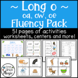 Long Vowel o Fluency Activities and Worksheets (oa, ow, and oe) Bundle