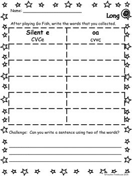 Long o Worksheets and Activity Centers Bundle- silent e and oa