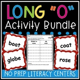Long o Worksheets and Literacy Centers Activity Bundle (silent e and oa)